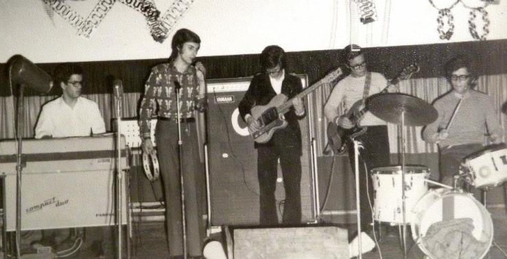 1972-02 RECITA DO CENTRO ACADÉMICO DE BRAGA NO S. GERALDO SG Com Biba Sarmento, José Tinoco Marques e Valdemar Ferreira.